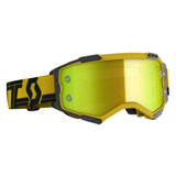 Scott Fury Goggle Yellow-Black Frame/Yellow Chrome Lens