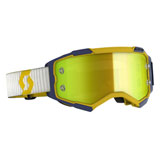 Scott Fury Goggle Yellow-Blue Frame/Yellow Chrome Lens