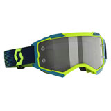 Scott Fury LS Goggle Neon Yellow-Blue Frame/Light Sensitive Grey Lens