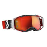 Scott Prospect Goggle White-Red Frame/Orange Chrome Lens