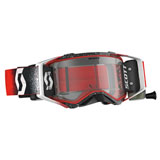 Scott Prospect WFS Goggle White-Red Frame/Clear Works Lens