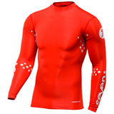 Seven Zero Blade Laser Cut Compression Jersey Red