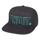 Seven Send It Snapback Hat Charcoal Heather