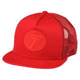 Seven Youth DOT Snapback Trucker Hat Red/Red