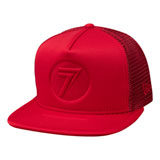 Seven Stamp It Snapback Hat Hot Red