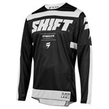 Shift 3LACK Strike Jersey Black/White