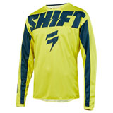 Shift WHIT3 York Jersey Yellow/Navy