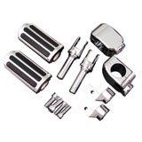 "Show Chrome Accessories Highway Bar Foot Pegs - 1-1/4"" Clamp"