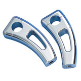 Show Chrome Accessories Square Handlebar Risers With Cutout