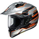 Shoei Hornet X2 Navigate Helmet Silver/Orange
