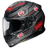 Shoei RF-1200 Trooper Helmet Matte Grey/Red