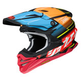 Shoei VFX-EVO Zinger Helmet Matte Red/Blue/Orange