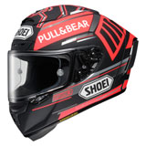 Shoei X-Fourteen Marquez Black Concept Helmet Red