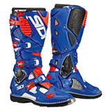 Sidi Crossfire 3 TA Boots White/Blue/Flo Red