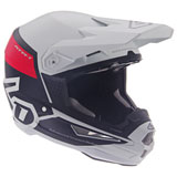 6D ATR-1 Flight Helmet White/Red