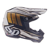6D ATR-1 Point Helmet White/Gold