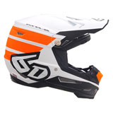 6D ATR-2 Stripe Helmet Orange/White