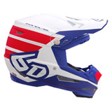 6D ATR-2 Stripe Helmet Red/White/Blue
