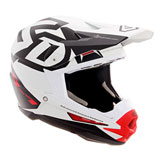 6D ATR-1 Switch Helmet White/Red/Black