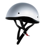 Skid Lid Original Half-Face Motorcycle Helmet Chrome