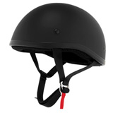Skid Lid Original Half-Face Motorcycle Helmet Flat Black