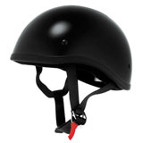 Skid Lid Original Half-Face Motorcycle Helmet Black