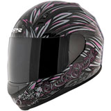 Speed and Strength To The Nines Ladies Motorcycle Helmet