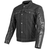 Speed and Strength Band Of Brothers Leather-Denim Motorcycle Jacket