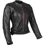 Speed and Strength Black Widow Ladies Leather Motorcycle Jacket