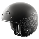 Speed and Strength SS600 American Beauty Ladies Open-Face Motorcycle Helmet