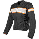 Speed and Strength American Beauty Ladies Textile-Leather Motorcycle Jacket