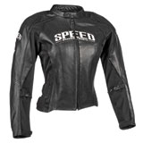 Speed and Strength Throttle Body Ladies Leather Motorcycle Jacket