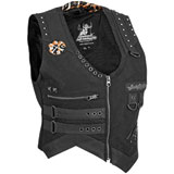 Speed and Strength Iron Mistress Ladies Textile Motorcycle Vest