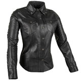 Speed and Strength Women's Black Heart Leather Moto Shirt