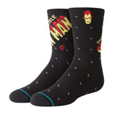 Stance Youth Classic Light Socks Invincible Iron Man Black