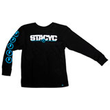 STACYC Youth Logo Long Sleeve T-Shirt Black
