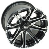 STI HD3 Alloy Wheel Black Machined