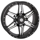STI HD7 Alloy Wheel Matte Black/Machined