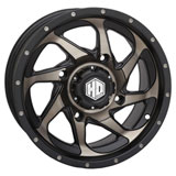 STI HD8 Alloy Wheel Matte Black/Dark Grey
