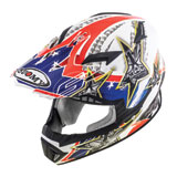 Suomy Rumble Tex Helmet Red/White/Blue