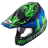 Suomy MX Jump Graffiti Helmet Blue/Green