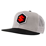 Suzuki Mark Snapback Trucker Hat Grey