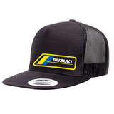 Suzuki Team MX Snapback Trucker Hat Black