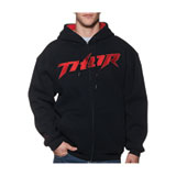 Thor Pinned Waffle Zip-Up Hooded Sweatshirt