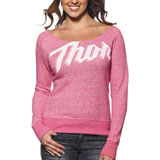Thor Script Ladies Off The Shoulder Sweatshirt
