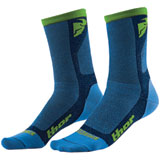 Thor Dual Sport Cool Socks Blue/Green