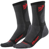 Thor Dual Sport Cool Socks Charcoal/Red