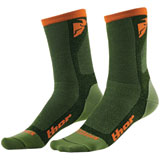 Thor Dual Sport Cool Socks Green/Orange