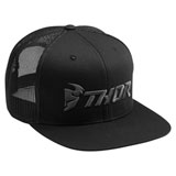 Thor Trucker Snapback Hat Black/Grey