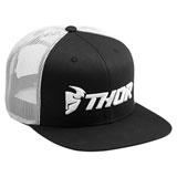 Thor Trucker Snapback Hat Black/White
